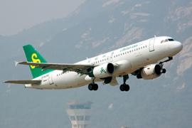 中国春秋航空在日本国内开通航线