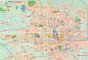 北京の地図