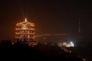 黄鶴楼と長江大橋